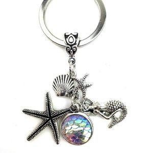 Accessories - Mermaid keychain accessory gift silver charms